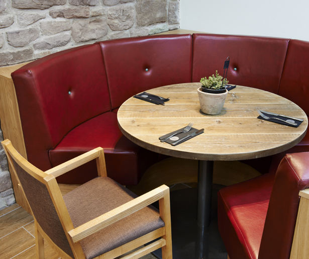 14. Ludlow Food Centre Booth Seating