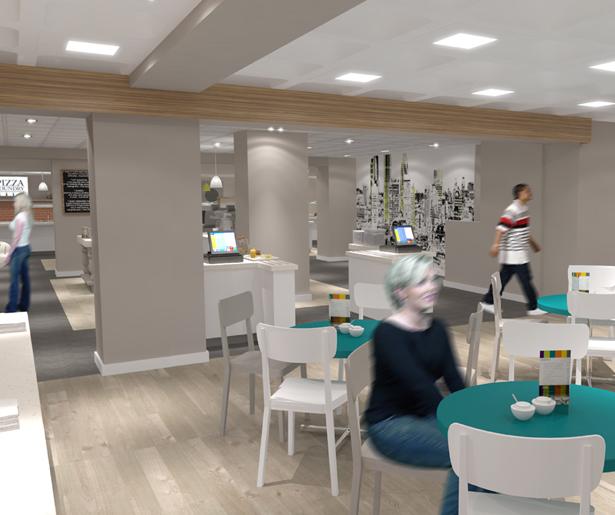 London South Bank University Servery and Seating Visual